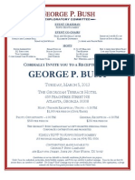 George P. Bush fundraiser invite