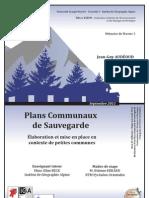 Mémoire M2 - Elaboration et mise en place de PCS en contexte de petites communes