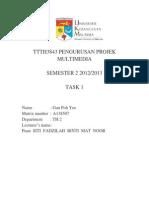 Task 1 Pengurusan Multimedia Project