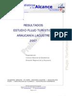 INE resultados turismo Araucania Lacustre 2007  preliminar