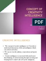 Concept of Creativity Intelligence