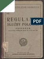 Regulamin służby polowej 1929