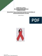 Tesina Politiche Sociali in Tossicodip e Aids