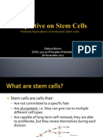 ZOOL 410 Perspectives on Stem Cells