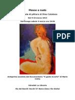 Messe a Nudo - Personale Di Pittura Di Dino Catalanoa Nudo - Locandina-cs