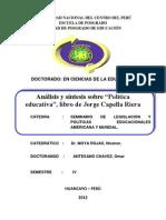 Aportes a La Politica Educativa Peruana