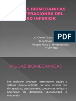 Ayudas Biomecanicas en Alteraciones Del Mienbro Inferior