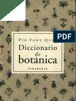 Diccionario Botanica Pio Font-Quer