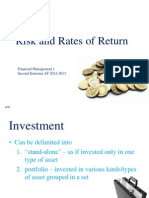 Risk and Rates of Return - ACM