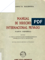 Balestra, Ricardo - Manual de Derecho Internacional Privado Parte General