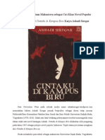 Konflik Percintaan Mahasiswa sebagai Ciri Khas Novel Populer dalam Novel Cintaku di Kampus Biru Karya Ashadi Siregar