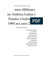Resenha de História da América ContemporâneaGovernos Militares na América Latina e Estados Unidos de 1980 aos anos 2000