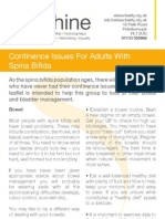 Continence Issues for Adults With Spina Bifida