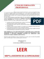 TRAYECTOS DE FORMACIÓN PROFESIONAL