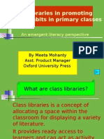 Class Libraries in Promoting Reading Habits in Primary
