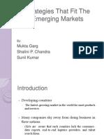 Strategies That Fit the Emerging Market PRSENTATION
