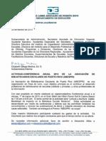 Autorización del Departamento de Educación para Asistir a la Asamblea 2013