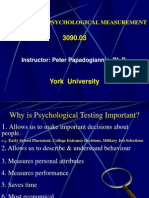 Introduction-Principles of Psychological Measurement
