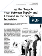 Managing the Tug-Of-War Between Supply and Demand in the Service Industry - Bitran Mondschein