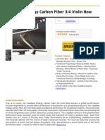 CodaBow Prodigy Carbon Fiber 3 4 Violin Bow