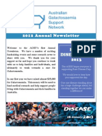 AGSN 2012 Annual Newsletter