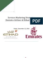 Service Marketing Strategies Emirates and Etihad