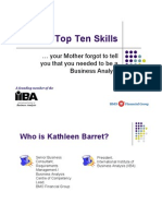 The Top Ten Skills of Business Analysts