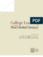 LEAP Report on College Learning for the New Global Century
