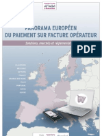 AFMM - SYNTHESE - Panorama Europeen Du Paiement Sur Facture Operateur - 2012