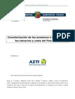 Caracterizacion de Presiones e Impactos en Estuarios y Costa de La Capv