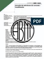 Nbr 14931A - Execução De Estruturas De Concreto - Procedimento