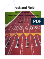 track and field unit plan