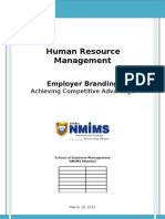 HRM Project Report on Employer Branding