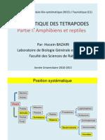Cours Faunistique Tetrapodes Partie 1 _(2011)