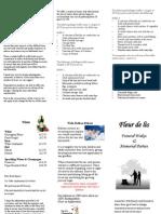 Funeral Leaflet 2013