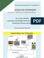 Cours Faunistique Tetrapodes Partie 2 _(2011)