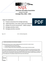 NAJA Strategic Plan -- draft