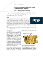 Optimizing the Performance of a Marine Diesel Engine Towards Proactive Condition Monitoring