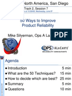 50 Ways to Improve Product Reliability - ARS Presentation 2011