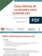 School Closing 2013