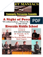 Riverside Middle School Benefit NIGHT OF PERCUSSION Mallet Maniacs 2013