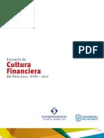 Encuesta de Cultura Financiera del Perú - 2011