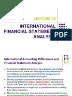 International Financial Analysis