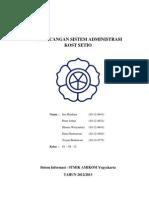 Proposal Perancangan Sistem Administrasi Kost Setio