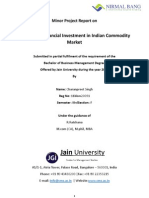 A Study on Financial Investment in Indian Commodity Market