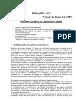 Legislacion Unidad 5 Prof. Frey Legislación Laboral