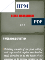 Retail Concept & Significance