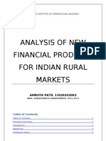 Analysis of new financial products for Indian Rural Markets