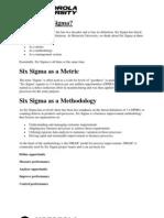SixSigma Introduction (Motorola)