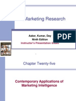 Contemporary Applications of Marketing Intelligence
